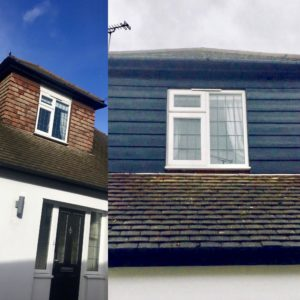 Before and After Concrete Cladding in Billericay, Essex